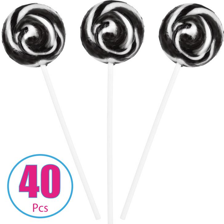 Black and White Swirl Pop - 40