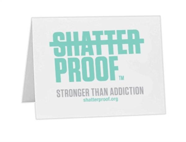 Shatterproof Notecard