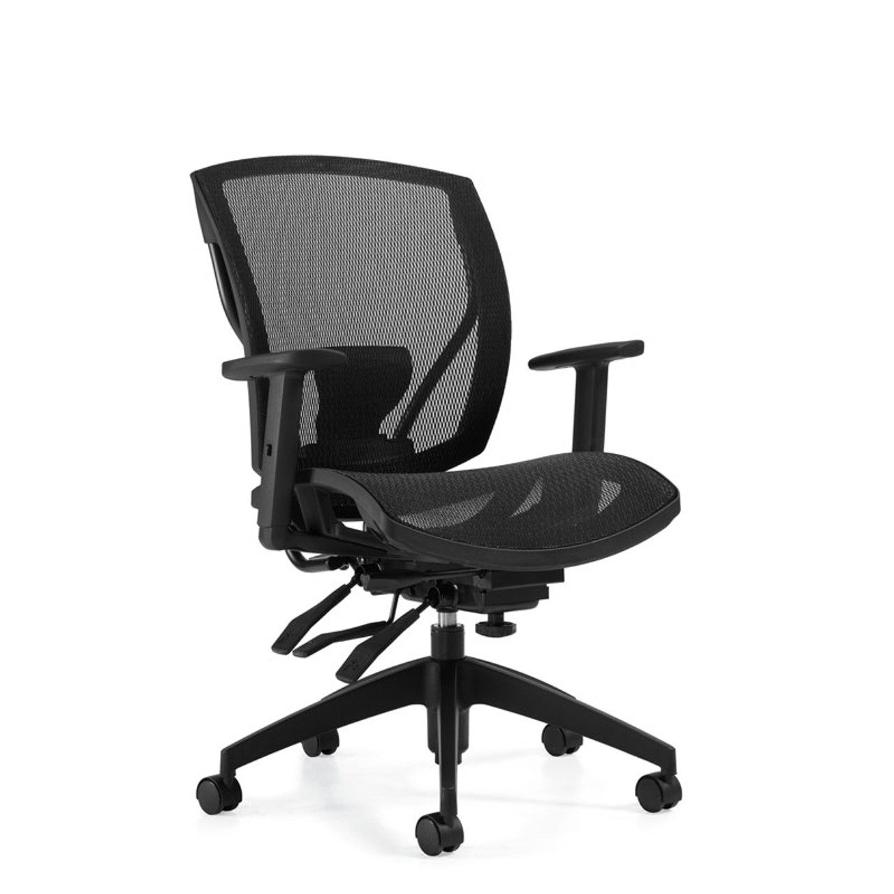 Ibex ergonomic chair - shown with mesh seat