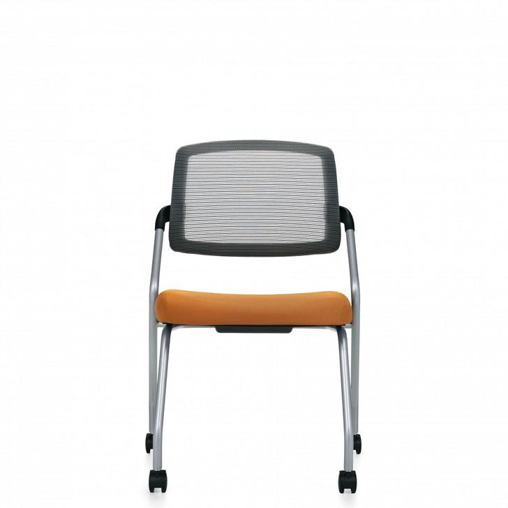 Spritz™ Armless Flip Seat Nesting Chair, Casters (6764C)