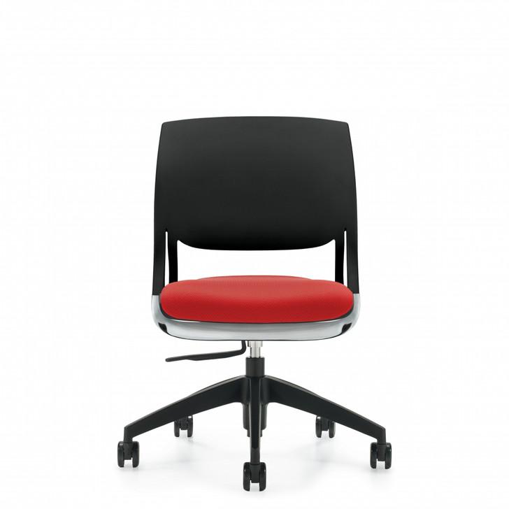 Novello™Armless Task, Upholstered Seat & Polypropylene Back (6401)