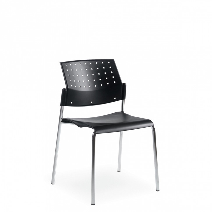 Sonic™ Armless Stacking Chair, Polypropylene Seat & Back (6508)
