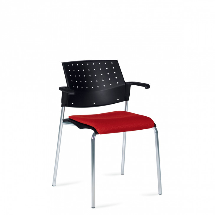 Sonic™ Stacking Armchair, Upholstered Seat & Polypropylene Back (6514)