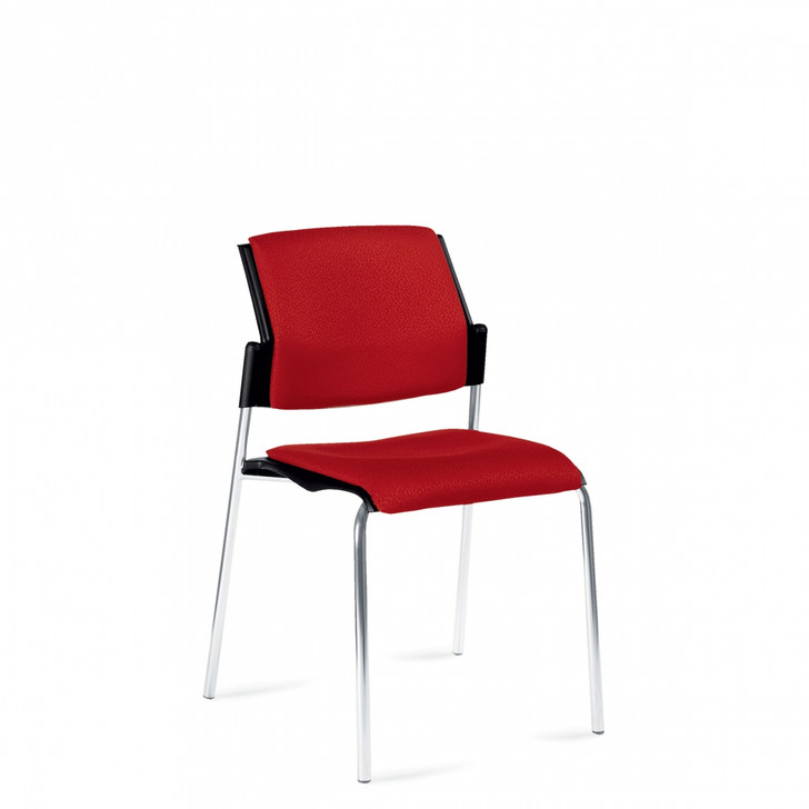 Sonic™Armless Stacking Chair, Upholstered Seat & Back (6511)