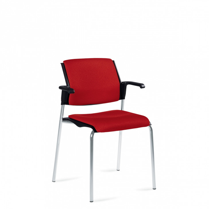 Sonic™ Stacking Armchair, Upholstered Seat & Back (6515)