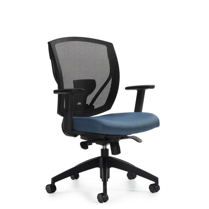 Ibex MVL2801, Upholstered Seat & Mesh Back Synchro-Tilter, OTG