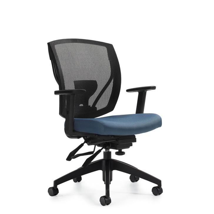 Ibex MVL2803, Upholstered Seat & Mesh Back Multi-Tilter, OTG