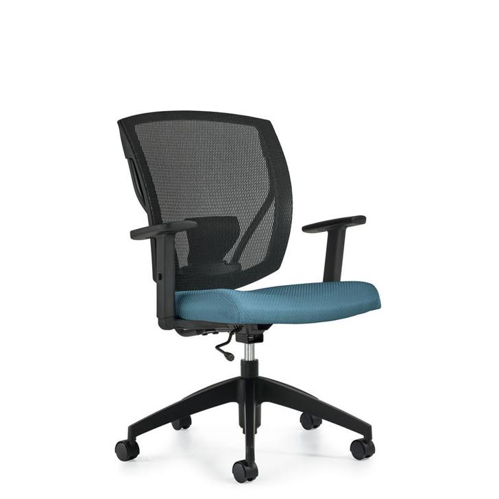 Ibex MVL2806, Upholstered Seat & Mesh Back Task , OTG
