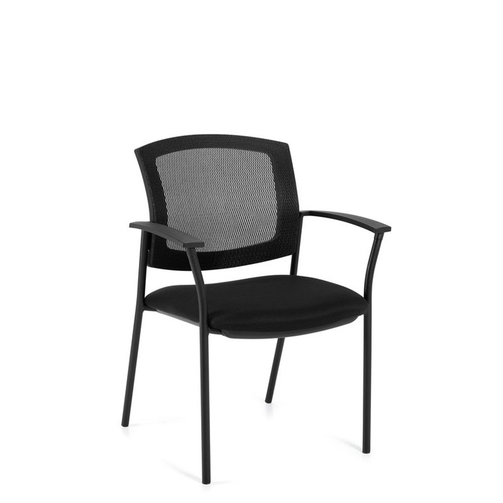 Ibex M9, Upholstered Seat & Mesh Back Guest Chair,