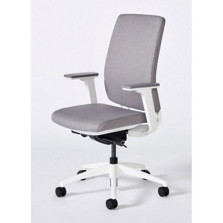 Icon Q2 Grey Fully Upholstered & White Frame