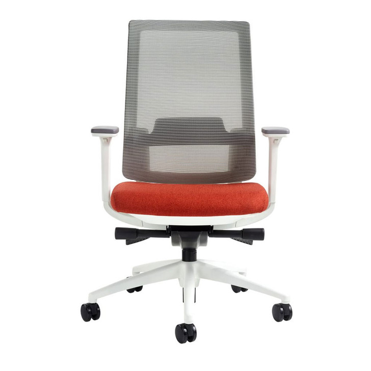 Icon Q2 Fog Mesh Back Jacinth Seat Office Chair White Frame, front view