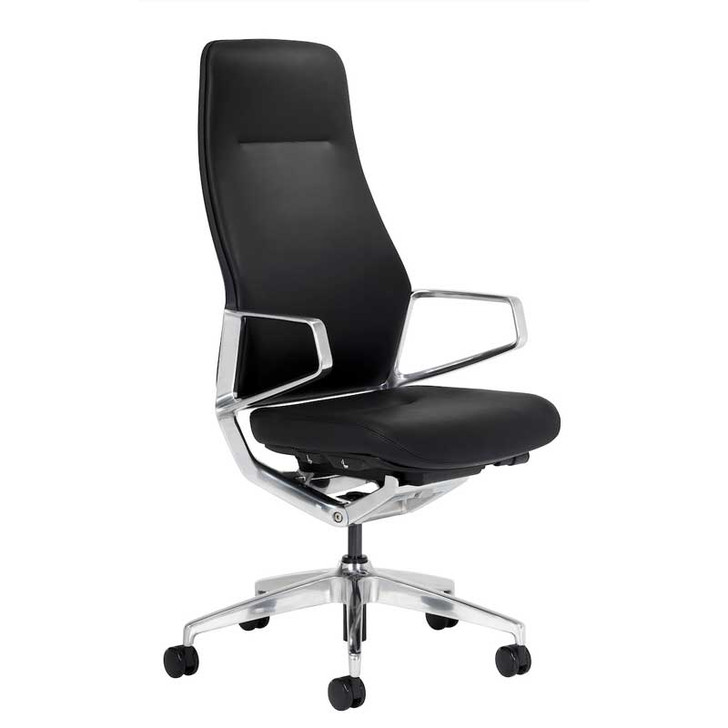 Icon L2 Executive Leather High-Back Office Chair, black