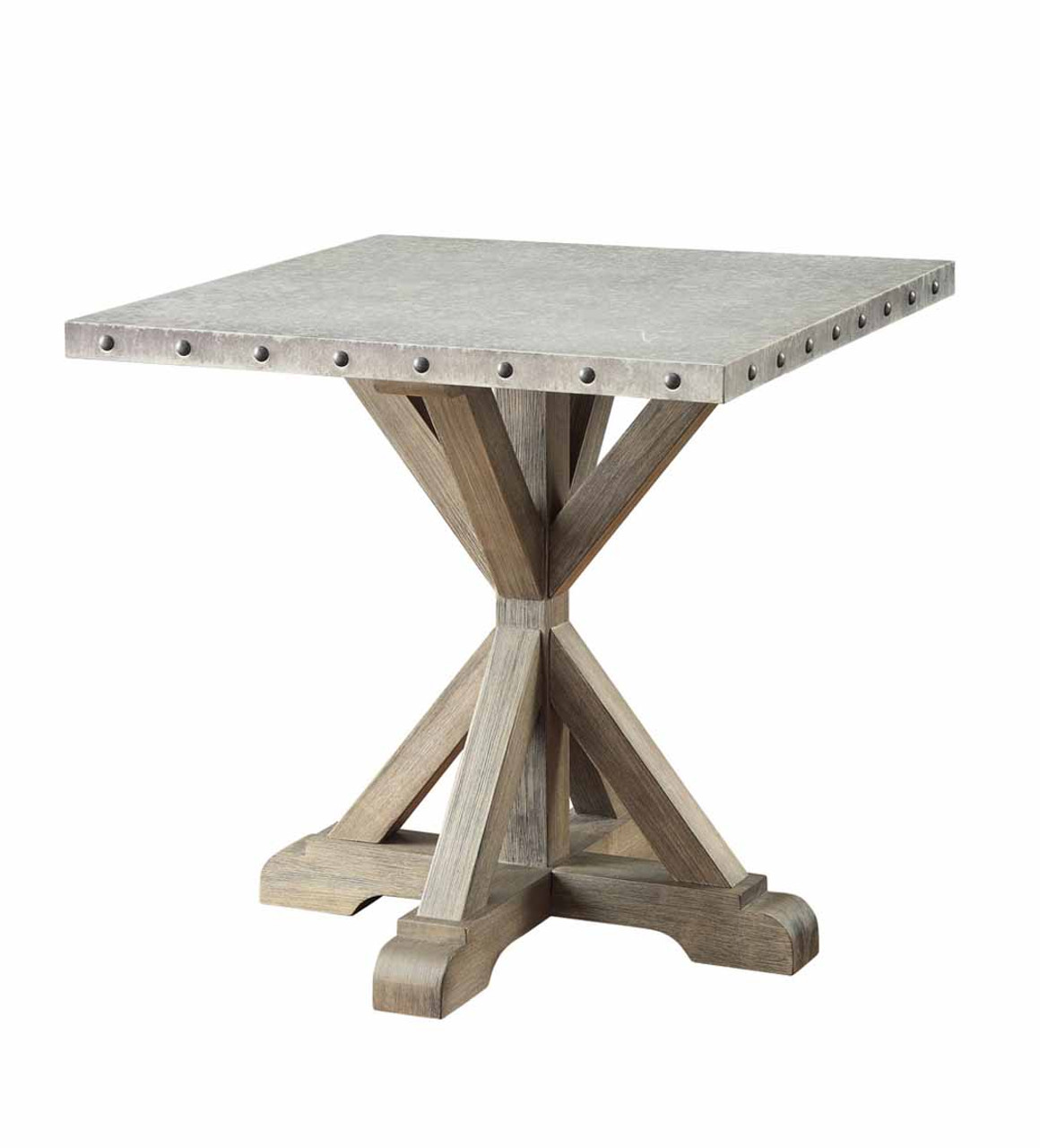 Picture of: The Industrial Driftwood Side Table Available At Cupp S Furniture Proudly Serving Elkins Wv