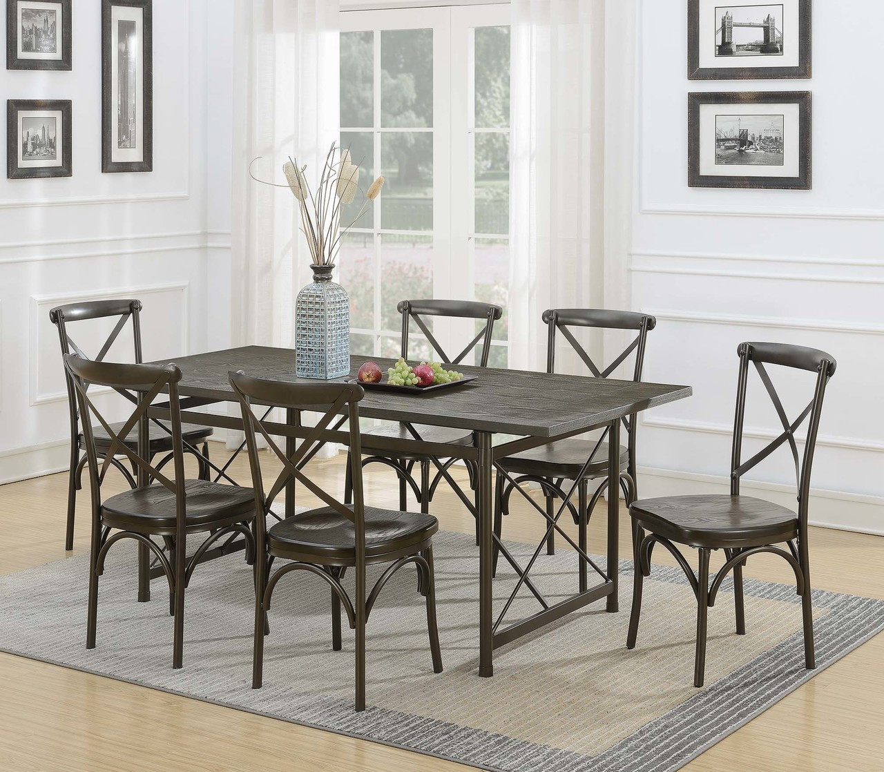 The Hawthorne Industrial Chic Brown Dining Table Available At Cupp S Furniture Proudly Serving Elkins Wv