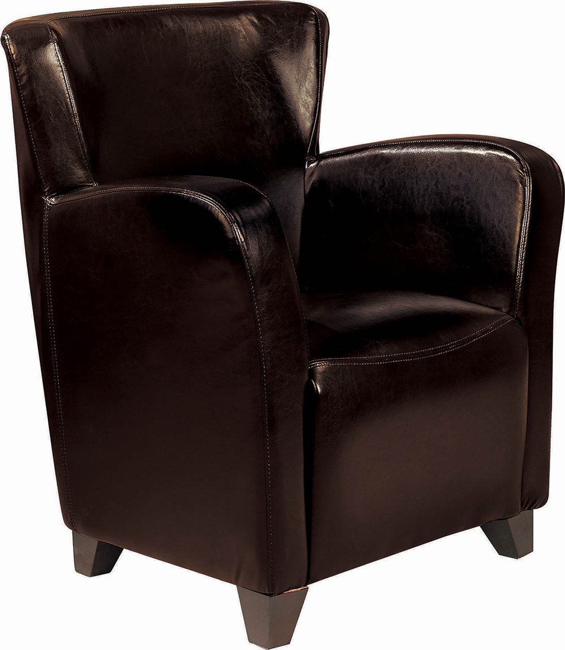 Outstanding Transitional Dark Brown Faux Leather Accent Chair Ocoug Best Dining Table And Chair Ideas Images Ocougorg