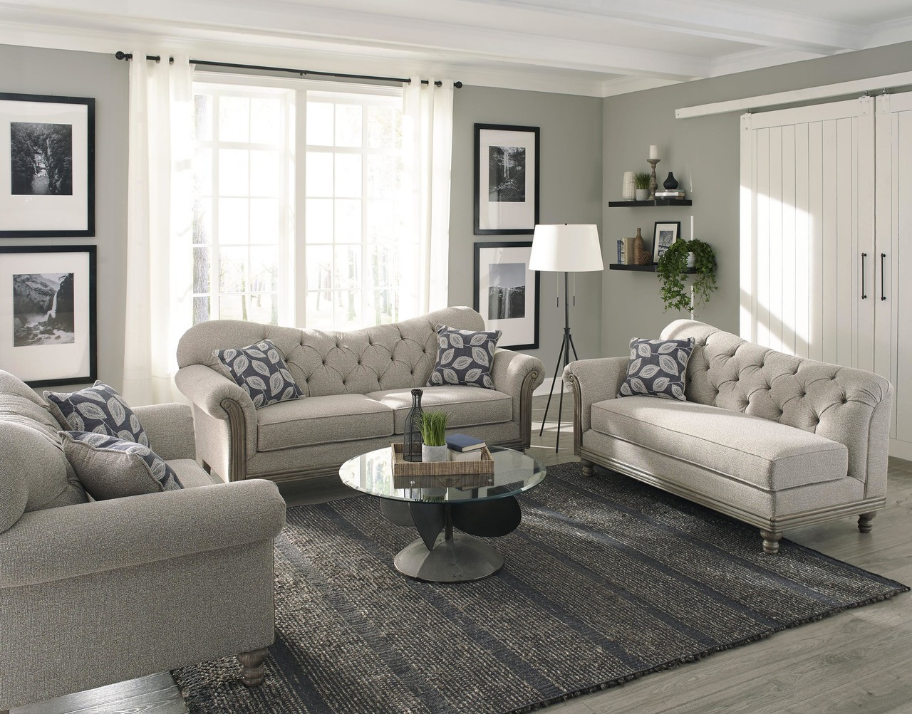 Gilmore Grey Two-Piece Living Room Set