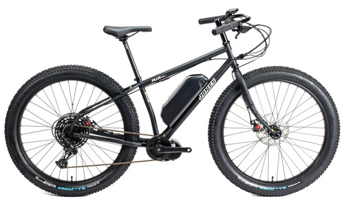 Jones Plus LWB HD/e Ebike with BBS02 Motor and Knobby Tires Matte Black