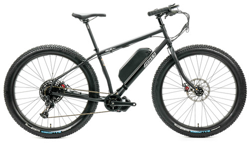 Jones Plus LWB HD/e Ebike with BBSHD Motor and Knobby Tires Matte Black