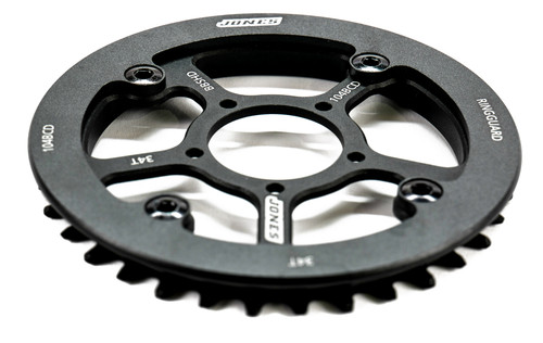 Jones BBSHD Direct Mount Chainring and Ring Guard Assembly 34T 104BCD  (w/4 Bolts)