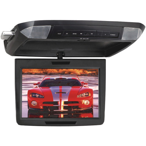 Power Acoustik PMD-112CMX Widescreen Ceiling-Mount (Car) Flipdown Monitor with DVD Player