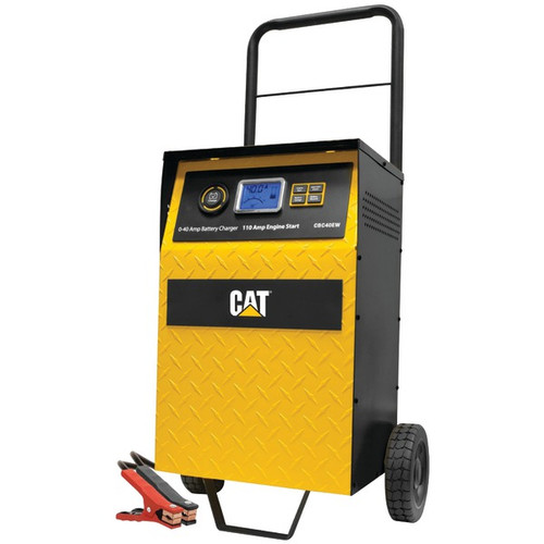 Cat CBC40E 40A Rolling High-Frequency Charger with 110-Amp Engine Start+ Alt Check+Battery Recond