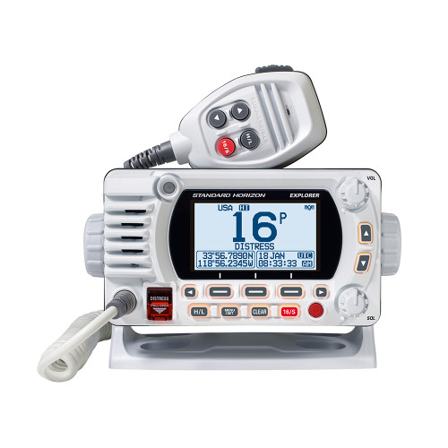 Standard Horizon 1850G Fixed Mount VHF w/GPS - White (Part# GX1850GW)