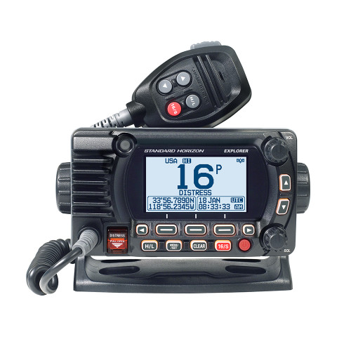 Standard Horizon GX1800G Fixed Mount VHF w/GPS - Black  (Part# GX1800GB)