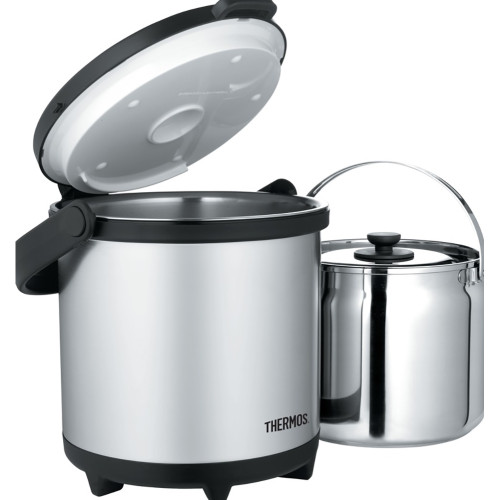 Thermos Cook & Carry System - Stainless Steel/Black - 4.7 Qt