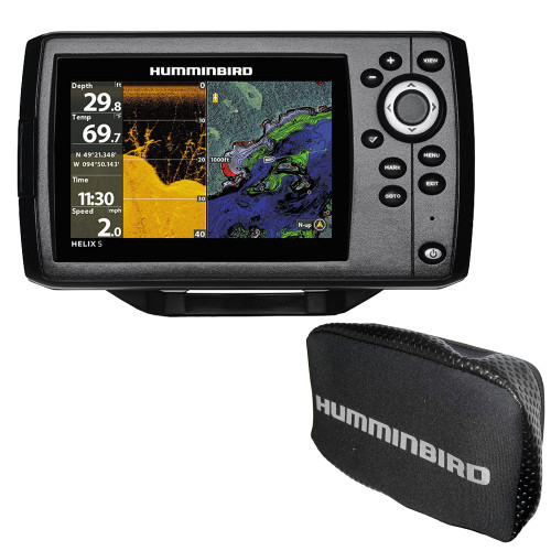 Humminbird HELIX 5 CHIRP DI GPS G2 Combo w/Free Cover - Rebate up to $50.00*- No Tax