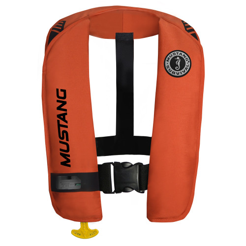 Mustang MIT 100 Inflatable Automatic PFD w/Reflective Tape - Orange