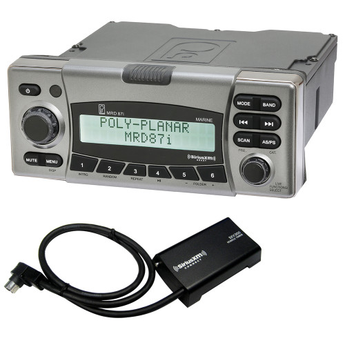 Poly-Planar MRD87i IPX6 Marine Radio w/SiriusXM Receiver & Antenna + Get FREE Offfer*