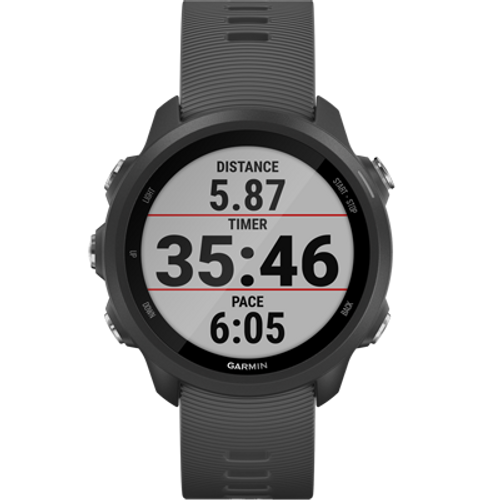 Garmin 010-N2120-00 Forerunner 245 Sportswatch - Slate Gray (Renewed) - NO Tax