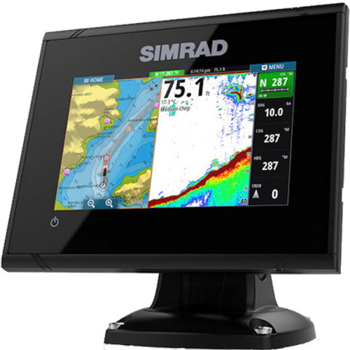 "Simrad GO5 XSE Chartplotter/Fishfinder, 5"" color LCD Display, C-Map Pro, No Xdcr (Renewed) - NO Tax"
