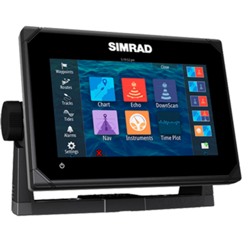 "Simrad GO7 XSR Chatplotter/Fishfinder with Radar Display, 7"" Color LCD Display, C-Map Pro, No Xdcr (Renewed) - NO Tax"