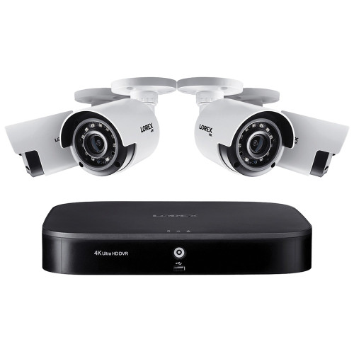 LOREX DK181-48CA 4K Ultra HD Analog 8-Channel Security System with 1 TB DVR & 4X4K Ultra HD Bullet Security Cameras - No Tax