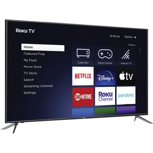 "JVC 58"" Class 4K UHD Roku Smart LED TV with Remote - NO Tax"