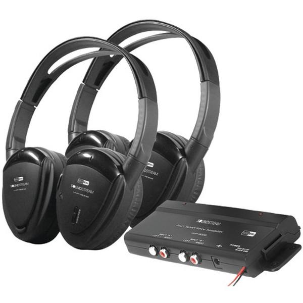 Power Acoustik  HP-902RFT 2-Channel RF 900MHz Wireless Headphones - 2 Sets
