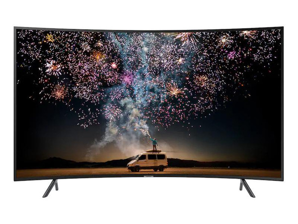 "Samsung 7 Series UN65RU7300F 65"" Curved LED Smart TV  4K UHD with HDR and Alexa Compatibility"