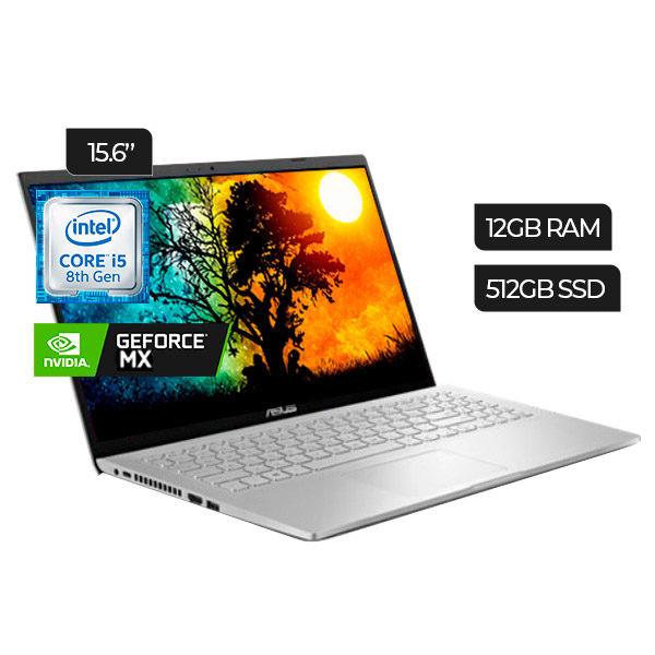 "Asus X509FB-BR078 15.6"" Notebook i5-8265U 1.6GHz 512GB SSD 12GB RAM - Spanish - Silver"