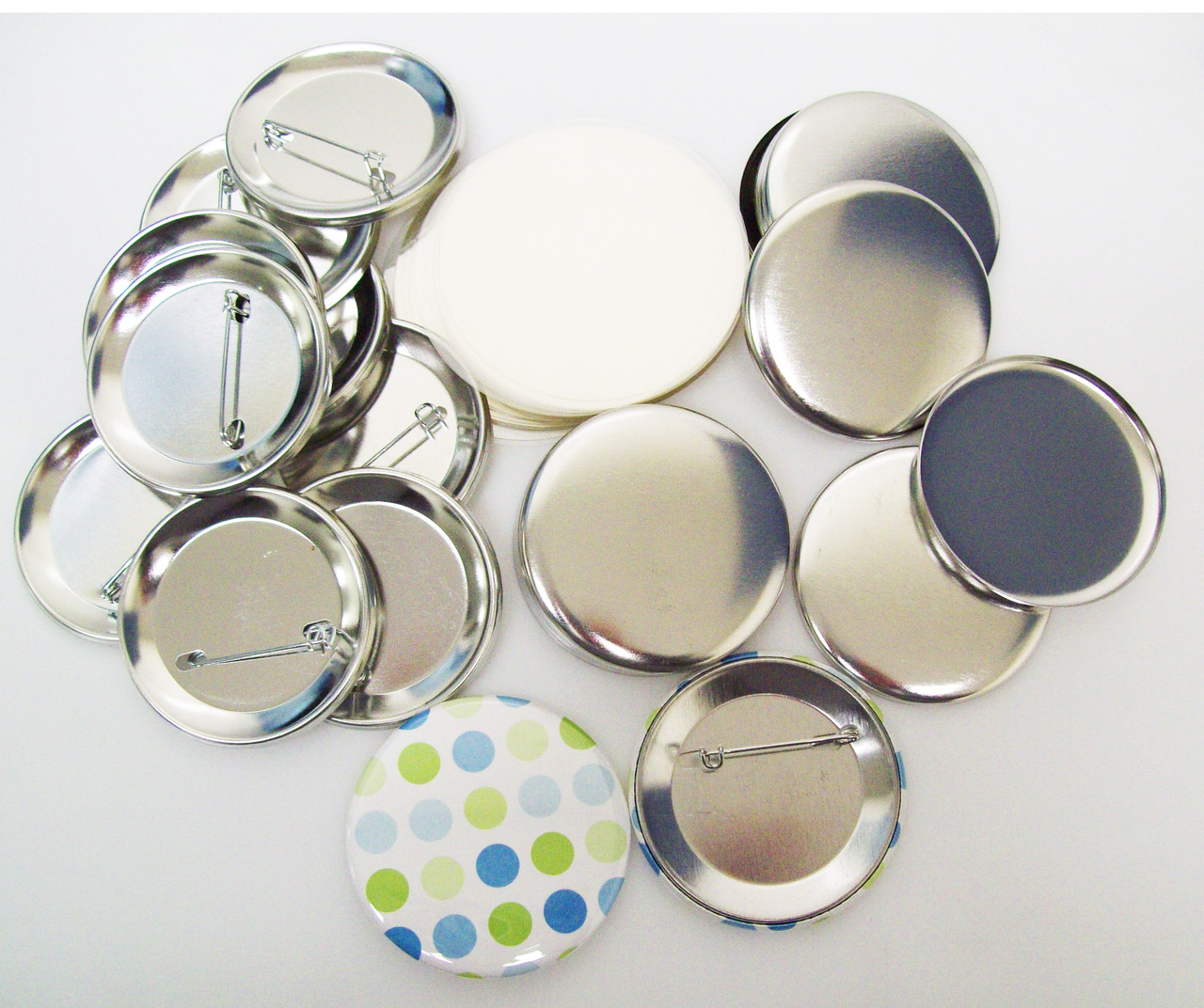 """2-1//4/"""" 2.25 inch STANDARD Size Pin Back Button Parts for Button Makers 1000 pcs"""