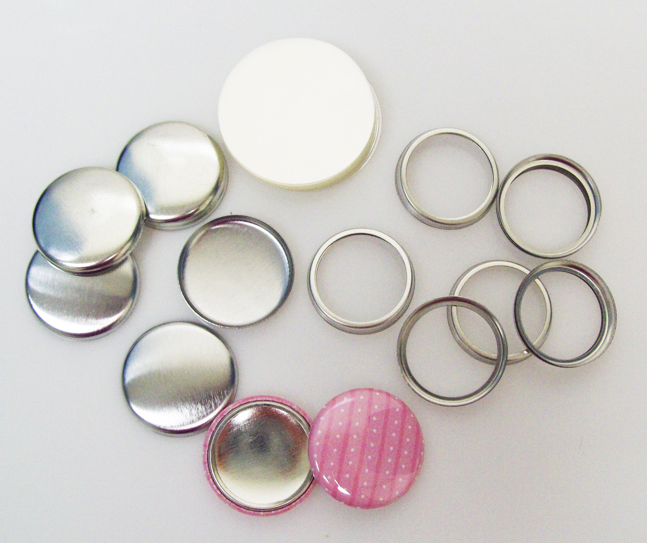 "2-1//4/"" inch and 2000pcs 1-1//4/"" inch Buttons for Tecre Button Makers 1000 pcs"