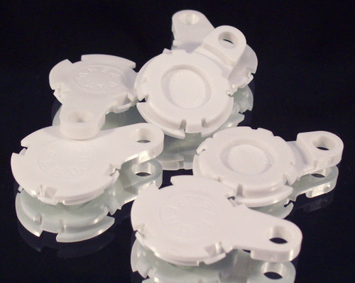 "100  Versaback Plastic Only For 1.5"" Metal Falt Backs w/Hole - No Zipper Pull - White-FREE SHIPPING"