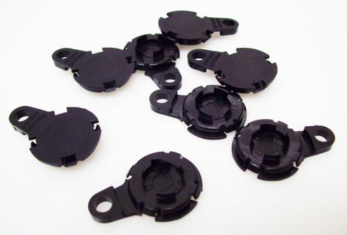 "1000  Versaback Plastic Only For 1.5"" Metal Falt Backs w/Hole - No Zipper Pull - BLACK -FREE SHIPPING"