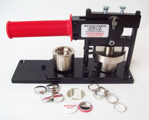 "1""  Button Making Kit - Tecre Button Machine and 1000 1 Inch HOLLOW BACK Button Parts-FREE SHIPPING"