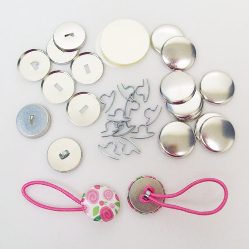 "1"" Tecre Pony Tail & Shoelace Button Parts - 100-FREE SHIPPING"