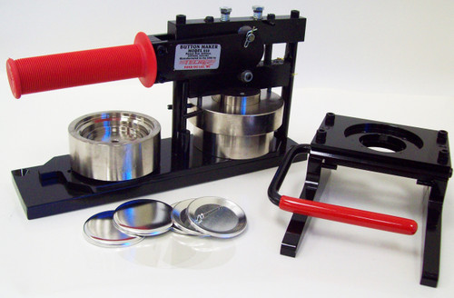 """2-1/2"""" Button Making Kit - Machine, Graphic Punch, 500 Pin Back Button Parts"""