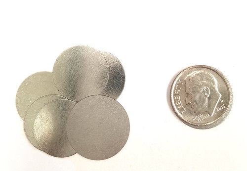 """Steel Metal Discs  0.675"""" 17mm for use to make Magnetic Pendants - 100 discs"""