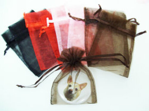 "30 Sheer Organza Bags 3"" x 4""  - Pack of 30- Choose your color"