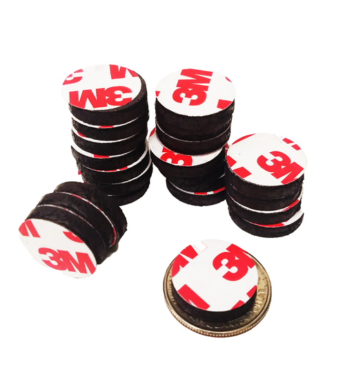 """3/4"""" Inch Round Rubber Peel & Stick Magnets ONLY  250 PCS"""