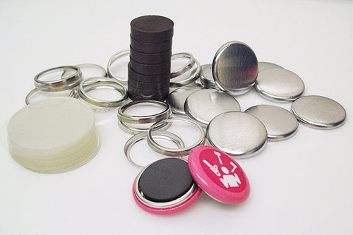"1"" Complete THICK Ceramic Magnet Parts  - 100"